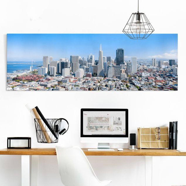 Leinwandbild - San Francisco Skyline - Panorama 3:1