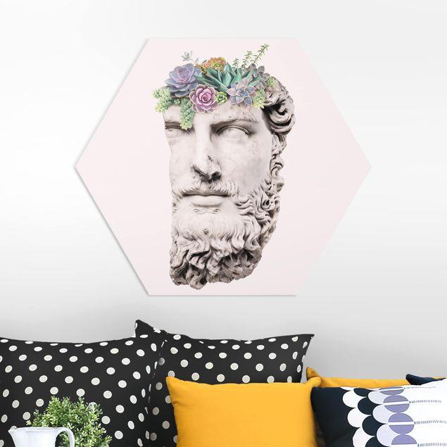 Hexagon Bild Forex - Jonas Loose - Kopf mit Sukkulenten