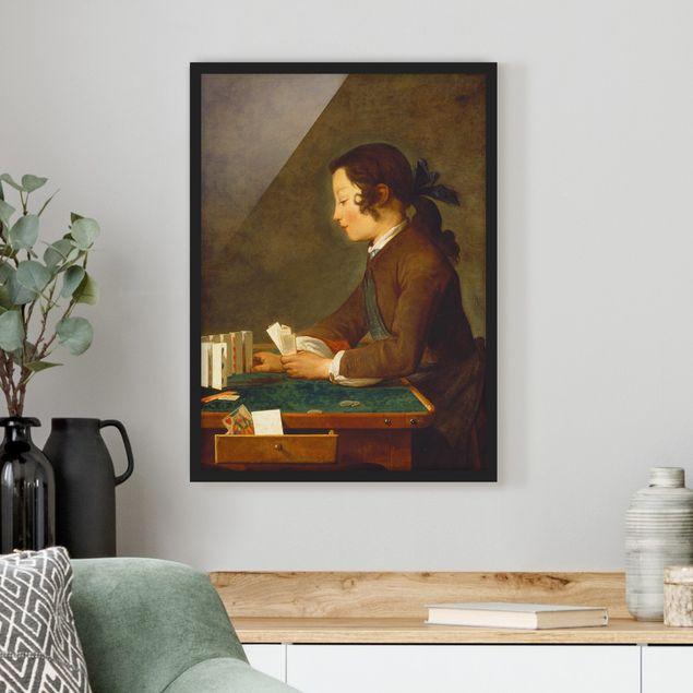 Bild mit Rahmen - Jean-Baptiste Siméon Chardin - Junges Mädchen - Hochformat 3:4
