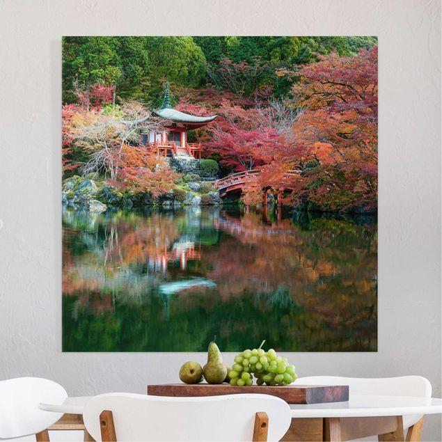 Leinwandbild - Daigo ji Tempel im Herbst - Quadrat 1:1