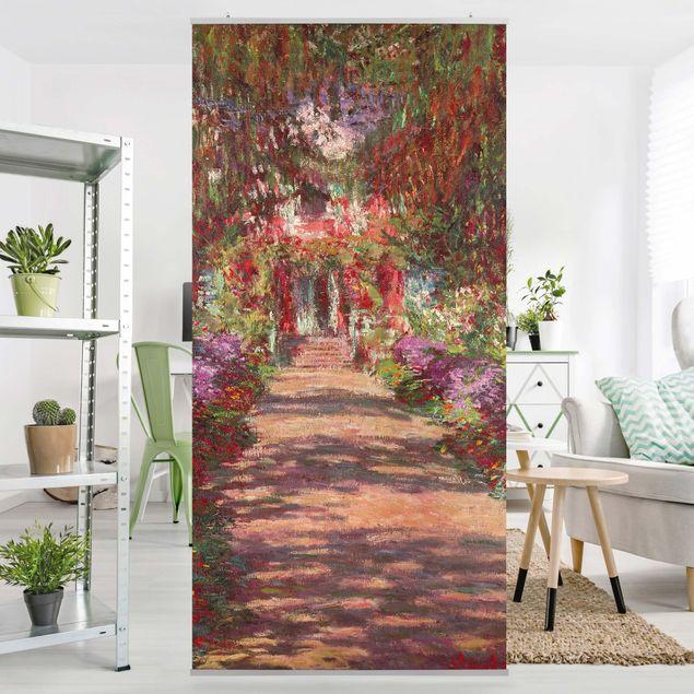 Raumteiler - Claude Monet - Weg in Monets Garten in Giverny - 250x120cm