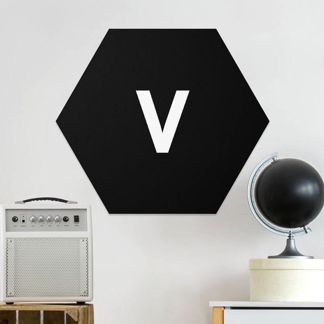 Hexagon Bild Forex - Buchstabe Schwarz V