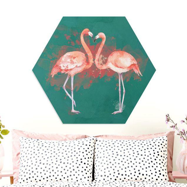 Hexagon Bild Forex - Flamingos