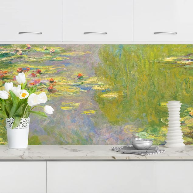 Küchenrückwand - Claude Monet - Grüne Seerosen