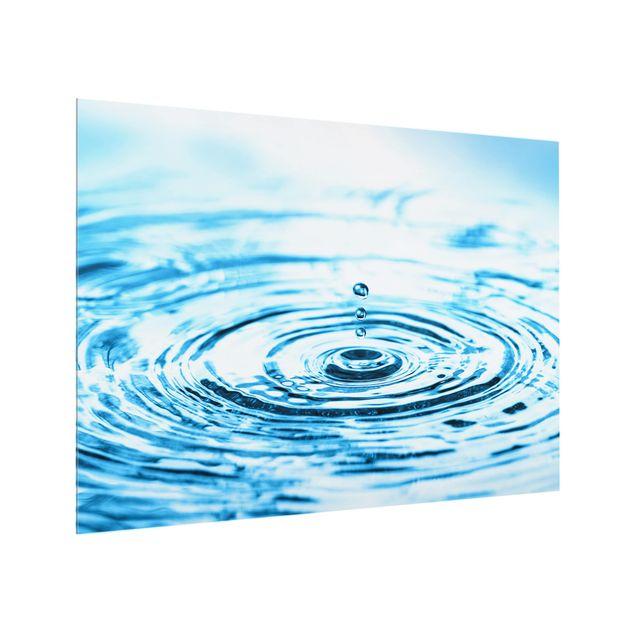 Glas Spritzschutz - Drops Turbulence - Querformat - 4:3