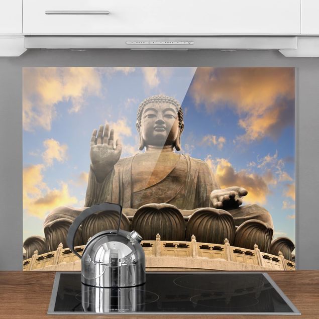 Glas Spritzschutz - Großer Buddha - Querformat - 4:3