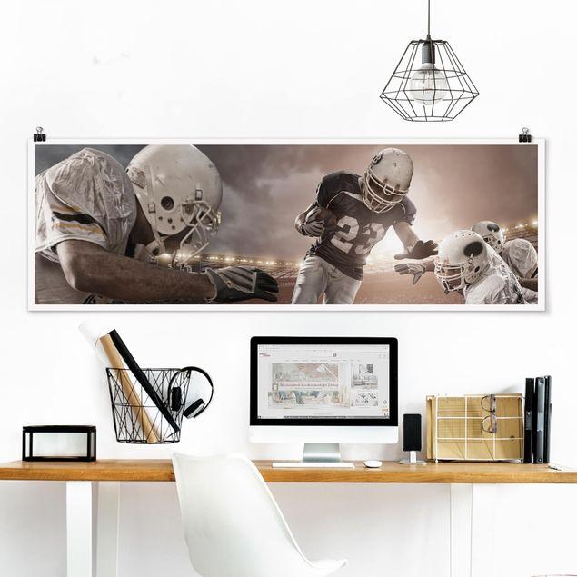 Poster - Tackling - Panorama Querformat