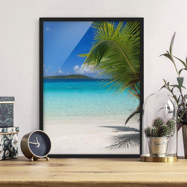 Bild mit Rahmen - Perfect Maledives - Hochformat 3:4