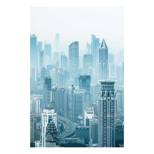 Glasbild - Kühles Shanghai - Hochformat 2:3