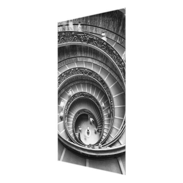 Glasbild - Bramante Treppe - Hochformat 2:3