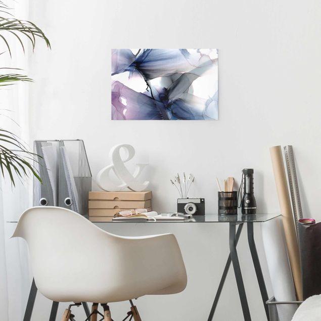 Glasbild - Violett im Fluss - Querformat 3:2