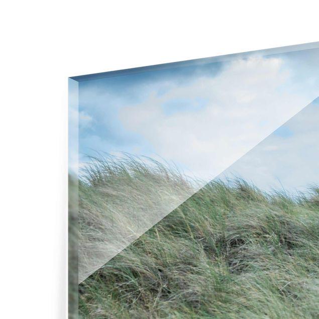 Glasbild - Stürmische Zeiten am Leuchtturm - Querformat 3:2