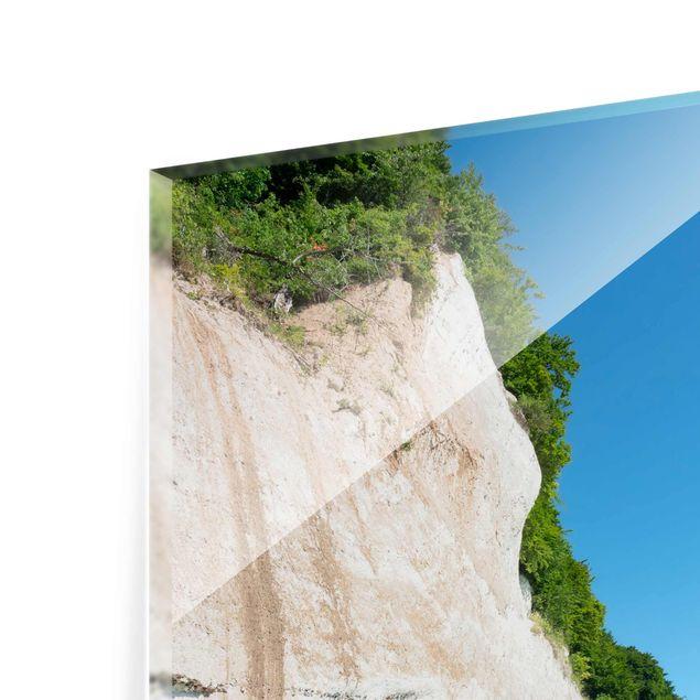 Glasbild - Kreidefelsen auf Rügen - Quadrat 1:1