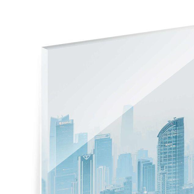 Glasbild - Kühles Shanghai - Hochformat 3:4