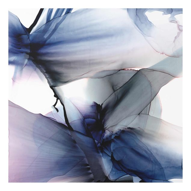 Glasbild - Violett im Fluss - Quadrat 1:1