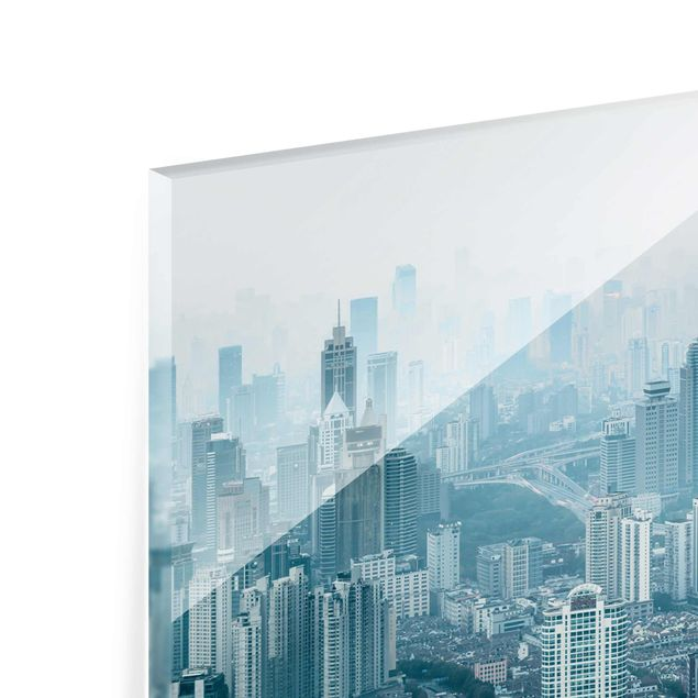 Glasbild - Kühles Shanghai - Panorama