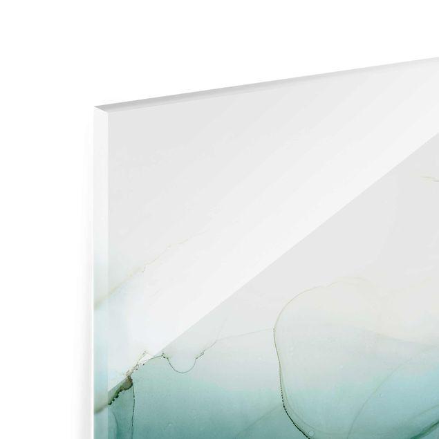 Glasbild - Goldener Waldspaziergang - Hochformat 2:3