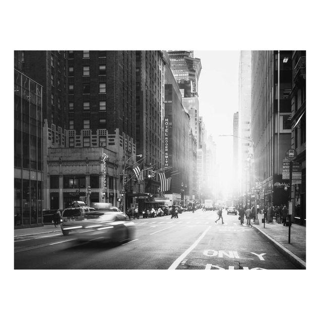 Glasbild - Lebhaftes New York - Querformat 4:3