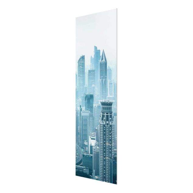 Glasbild - Kühles Shanghai - Panel