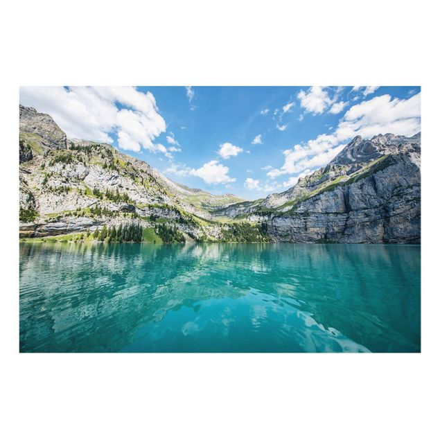 Glasbild - Traumhafter Bergsee - Querformat 3:2