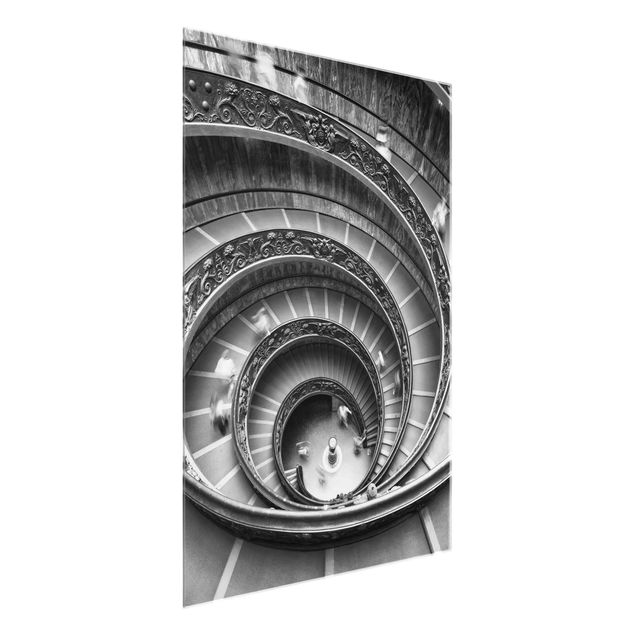 Glasbild - Bramante Treppe - Hochformat 3:4