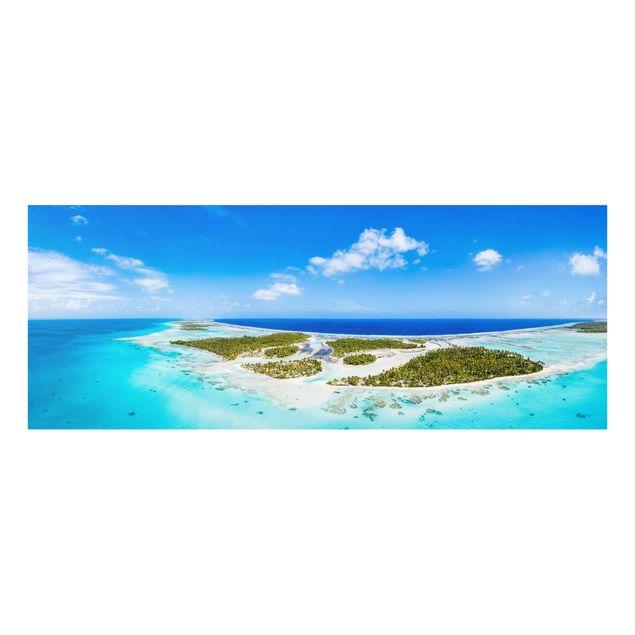 Glasbild - Paradies auf Erden - Panorama