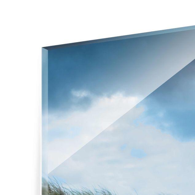 Glasbild - Stürmische Zeiten am Leuchtturm - Hochformat 2:3