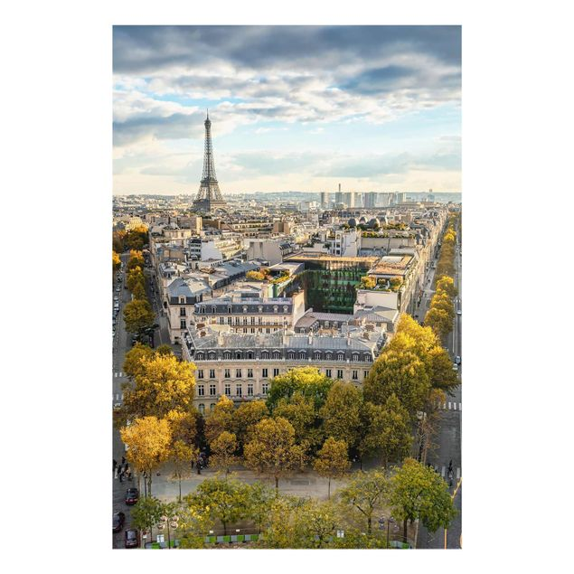 Glasbild - Nice day in Paris - Hochformat 2:3