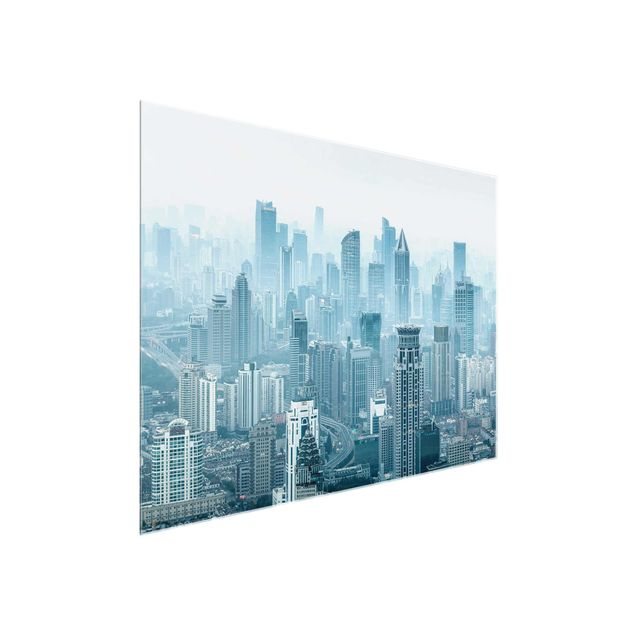 Glasbild - Kühles Shanghai - Querformat 4:3