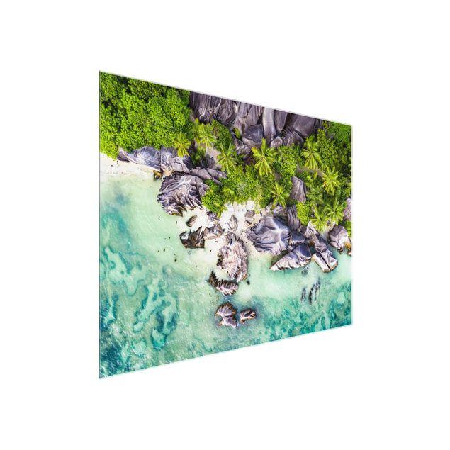 Glasbild - Versteckter Strand - Querformat 4:3