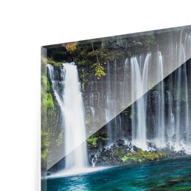 Glasbild - Shiraito Wasserfall - Querformat 4:3