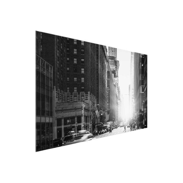 Glasbild - Lebhaftes New York - Querformat 3:2
