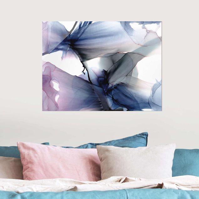 Glasbild - Violett im Fluss - Querformat 4:3