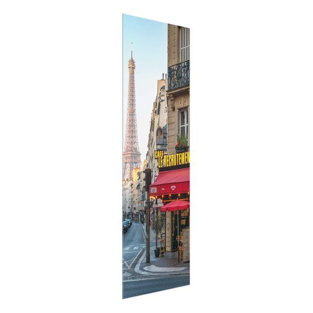 Glasbild - Straße von Paris - Panel