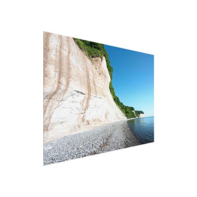 Glasbild - Kreidefelsen auf Rügen - Querformat 4:3