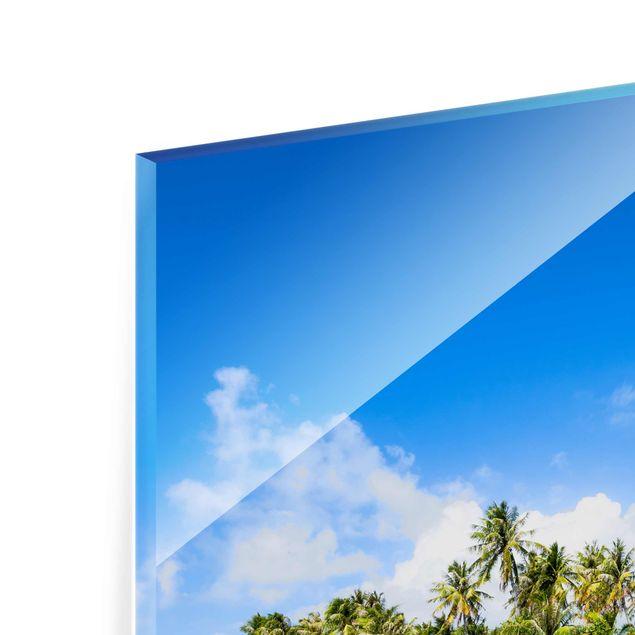 Glasbild - Crystal Clear Water - Hochformat 3:4