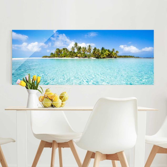 Glasbild - Crystal Clear Water - Panorama