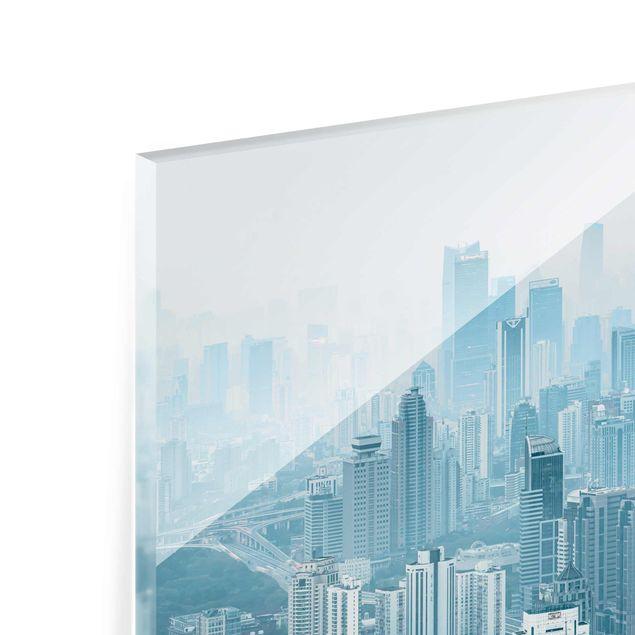 Glasbild - Kühles Shanghai - Querformat 3:2
