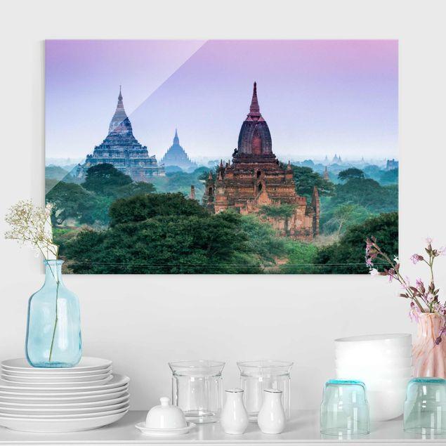 Glasbild - Sakralgebäude in Bagan - Querformat 3:2