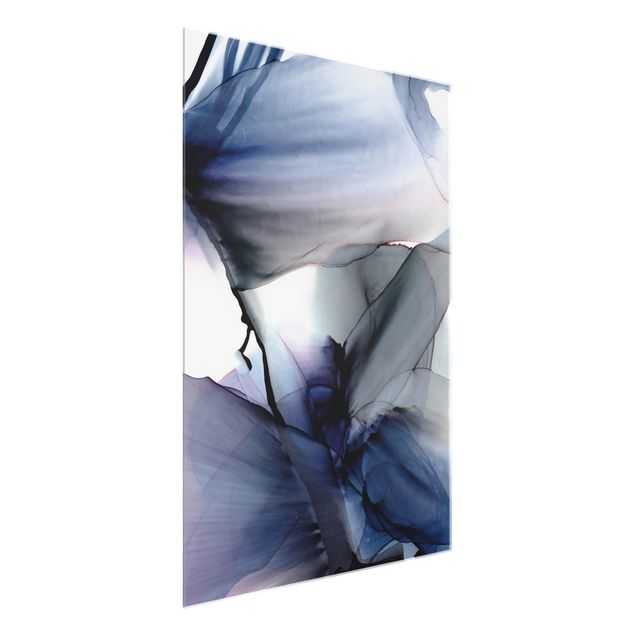 Glasbild - Violett im Fluss - Hochformat 3:4