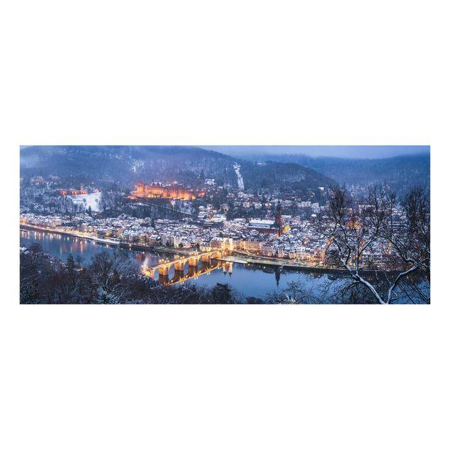 Glasbild - Winterliches Heidelberg - Panorama