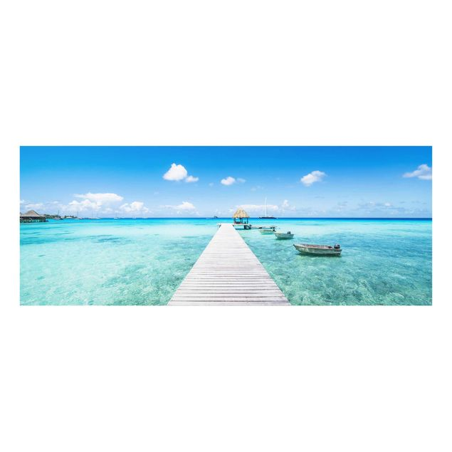 Glasbild - Urlaub in den Tropen - Panorama
