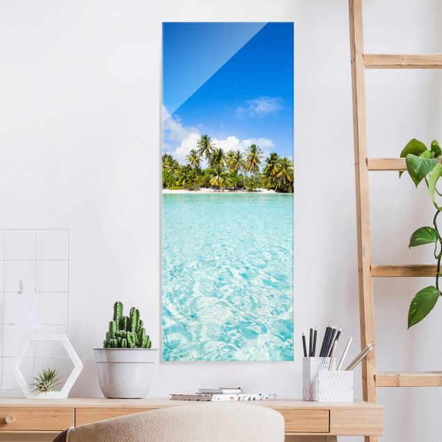 Glasbild - Crystal Clear Water - Panel
