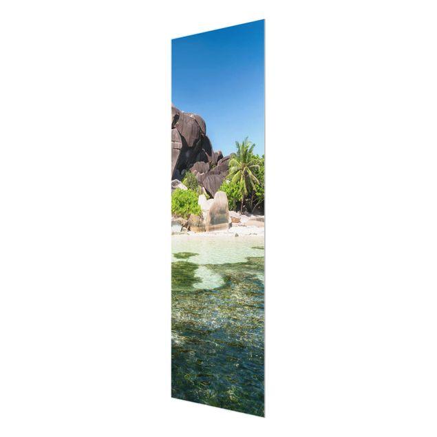 Glasbild - La Digue - Panel