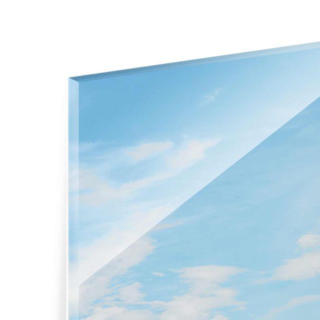 Glasbild - Leuchtturm an der Nordsee - Hochformat 2:3
