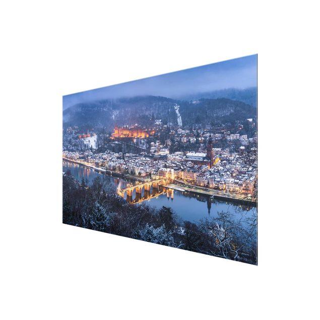 Glasbild - Winterliches Heidelberg - Querformat 3:2