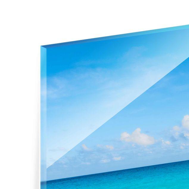 Glasbild - Blaue Welle - Hochformat 2:3
