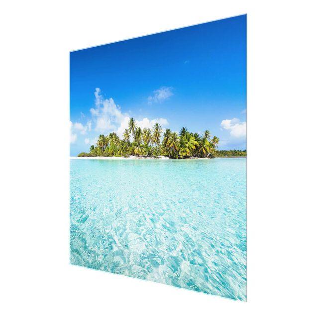 Glasbild - Crystal Clear Water - Quadrat 1:1