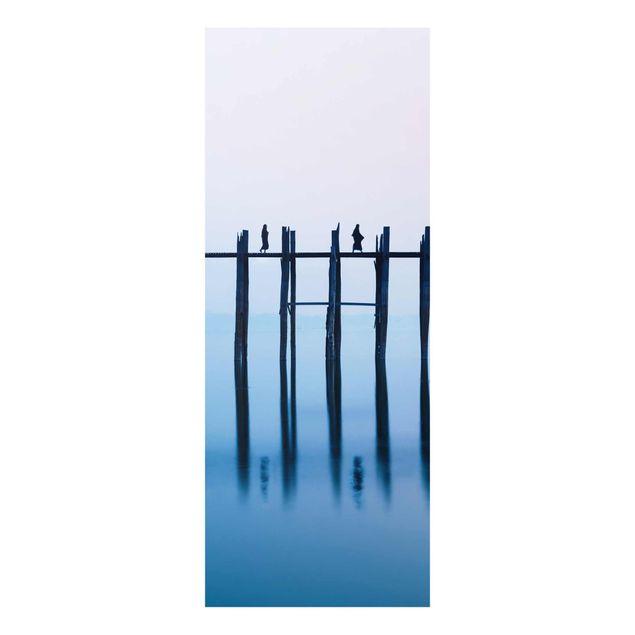 Glasbild - U-Bein Brücke in Myanmar - Panel
