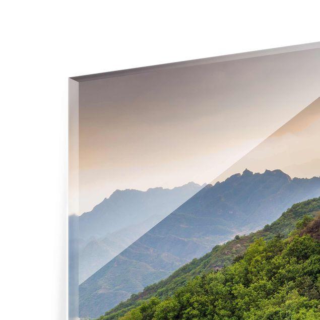 Glasbild - Die unendliche Mauer von China - Querformat 4:3